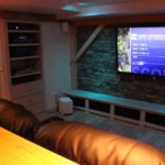 Basement into custom man cave designed and finished by MCC