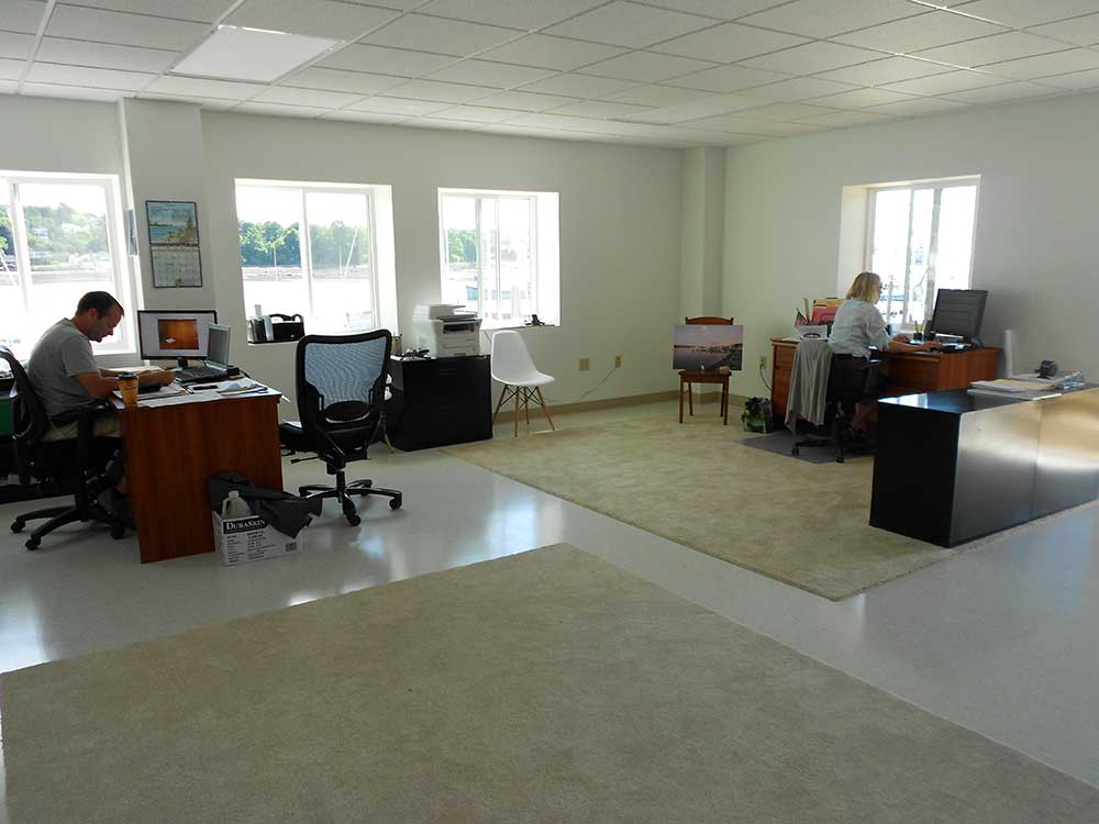 An example of an interior commercial space finished by Maine Coast Construction.
